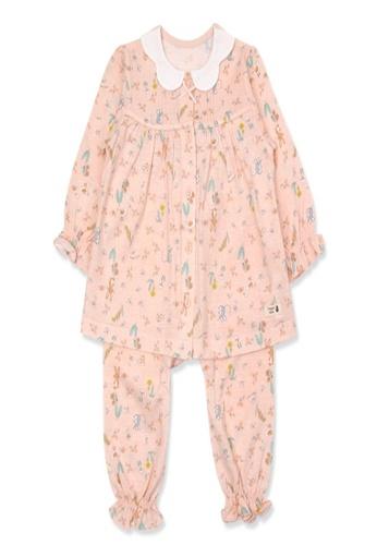 Organic mom orange Organic Cotton Sandra Floral Lightweight Long Sleeves Pjs 7388EKAE3E71A1GS_1