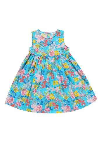 81e8c15d8 Girls' Sleeveless Crew-Neck Patterned Sundress
