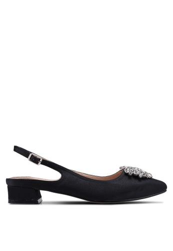 Nose black Crystal-Embellished Slingback Heels 9486BSHEF28DC2GS_1