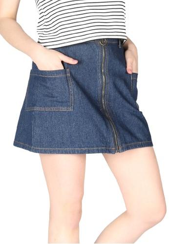 London Rag blue London Rag Women Denim Zip Front Mini Skirt CL7402_BLU F890AAA82F73EFGS_1