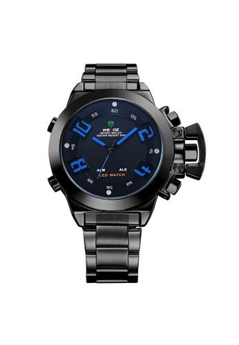 Weide blue Weide WH1008 Dual Time LED Sport Digital Analog Watch (Blue) WE079AC21RISMY_1
