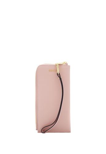 BONIA pink Blush Pink Bikki Wristlet Wallet 45AD8AC472F7BAGS_1