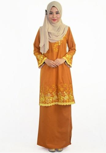 Denai Boutique yellow Baju Kurung Afeeya 863E5AA47C48DDGS_1