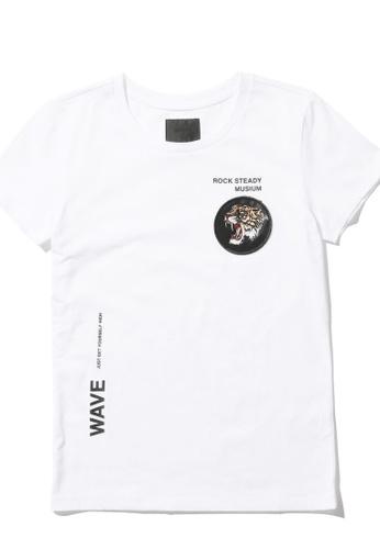 MUSIUM DIV white Tiger badge tee 85E60AAB4AB814GS_1