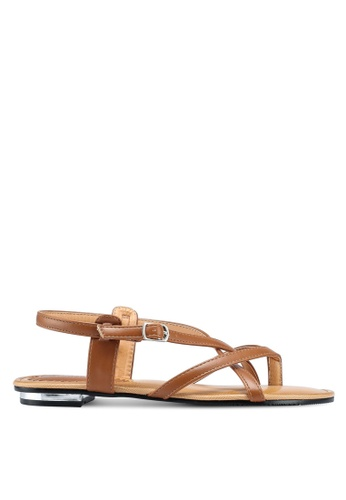 Mimosa brown Strappy Sandals BC105SHF002276GS_1