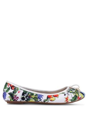 Carlton London 白色 花卉蝴蝶結平底鞋 0EA14SH9447BCAGS_1