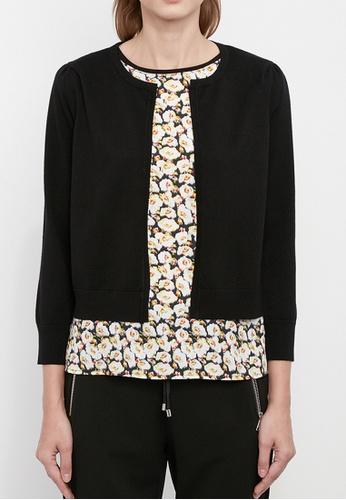 Dkny black DKNY Women Puff Sleeved Cardigan 94AD6AA50330C6GS_1