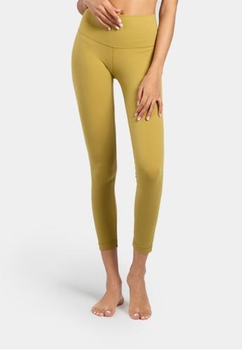 B-Code green ZUU3006-Lady Quick Drying Running Fitness Yoga Leggings-Green A5966AA831EC06GS_1