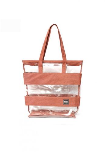 The Adventure brown and orange Tote Bag Liza 3EBF6ACABE0607GS_1