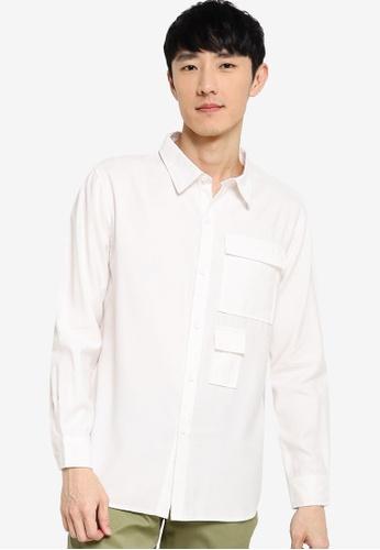 ZALORA BASICS white Regular Fit Duo Pocket Shirt A34F2AA0B4B522GS_1