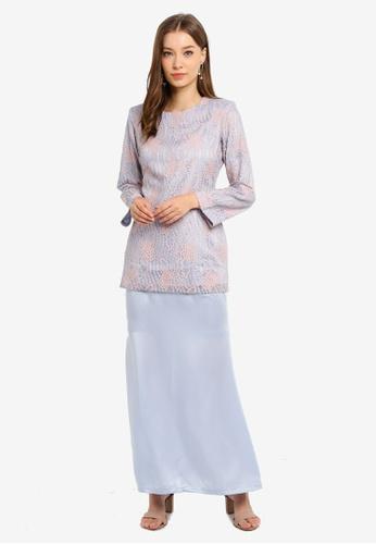 Butik Sireh Pinang blue Baju Kurung Moden Elena 2EA01AA1D1BC7CGS_1