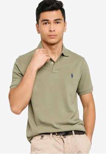 Polo Ralph Lauren green Short Sleeve Custom Slim Fit Polo Shirt - Basic Mesh F7768AA08703A7GS_1