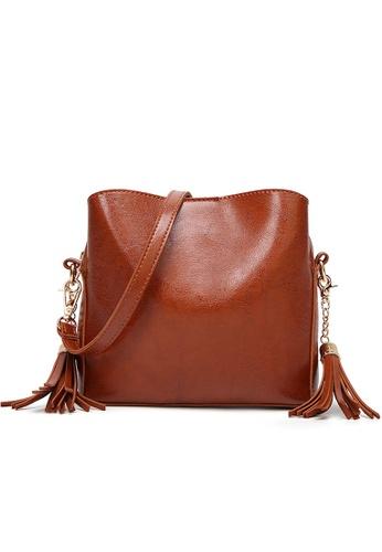 Lara brown Women's Tassel Crossbody Bag E69AFAC51DC7A0GS_1