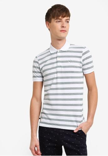 REGATTA white Striped Polo Shirt RE699AA0RUPPMY_1