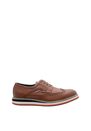 SEMBONIA brown Men Synthetic Leather Business Shoe 599B0SH1094E98GS_1