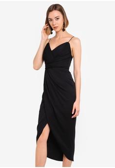 77ef02a07306a Forever New black Charlotte Drape Midi Dress EB371AA5DDE4B5GS_1