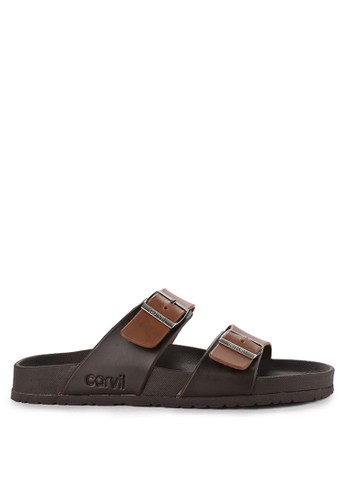 CARVIL brown Sandal Footbed Men Houston-02M 83B8BSHFD9510CGS_1