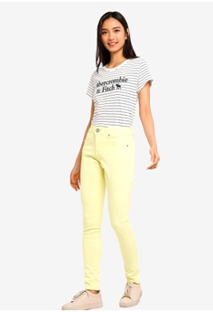 ac97a115c3132 35% OFF Abercrombie & Fitch Short Sleeve Logo Top RM 204.00 NOW RM 132.90  Sizes XS M L