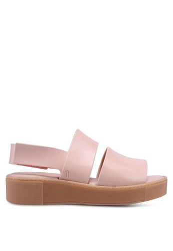 Melissa pink and multi Melissa Soho Ad Sandals 38DFFSH16DCB6DGS_1