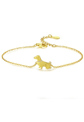 MATCH gold High quality Silver S925 golden dog bracelet 04B8BACECD92BDGS_1