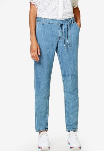 001a0c3d9b ESPRIT blue Tie-Around Belt Jeans D9A9EAA28816FDGS 1