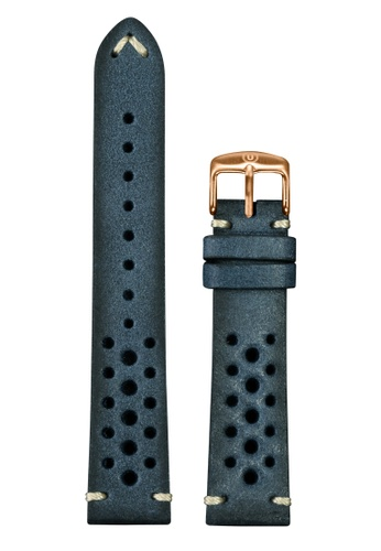 Undone blue Undone Rally Blue Calf Leather Strap 20mm (Rose Gold Buckle) UN712AC2VEKJHK_1