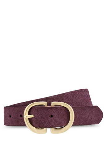 Pieces red Juva Suede Jeans Belt 929B5AC269C5B2GS_1
