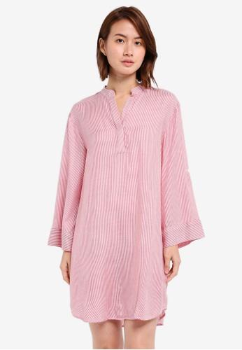ZALORA red Oversized Shirt Dress B2F46AA83CAC0BGS_1