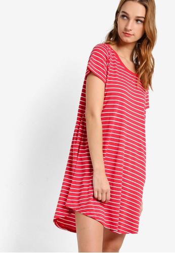 KN Tina 簡約T 恤連身裙zalora 心得, 服飾, 服飾