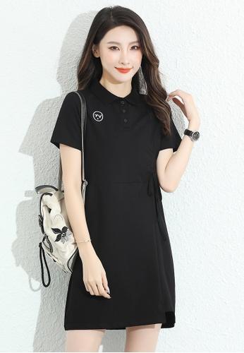 A-IN GIRLS black French Waist Dress 3361EAA12D4BA0GS_1