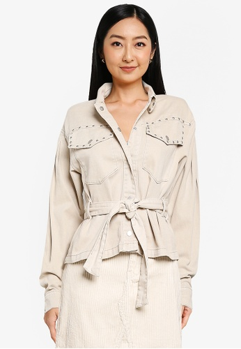ONLY grey Nora Crop Utility Jacket F4775AA94B532FGS_1