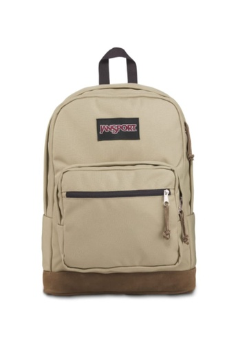 Jansport beige Jansport Unisex Right Pack Backpack Oyster - 31L 6A47AAC862A296GS_1