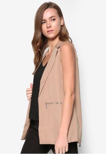 雙拉鍊開襟西裝外套, 服飾zalora 台灣門市, 外套