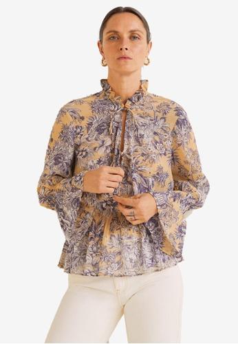 a7e0cb48fc3cfd Shop MANGO Floral Print Blouse Online on ZALORA Philippines