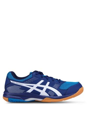 Asics blue Gel-Rocket 8 Shoes 90E4ASHFBB9209GS_1