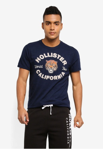 Hollister navy Animal Tech Logo T-Shirt 65E0BAAC18B60CGS_1