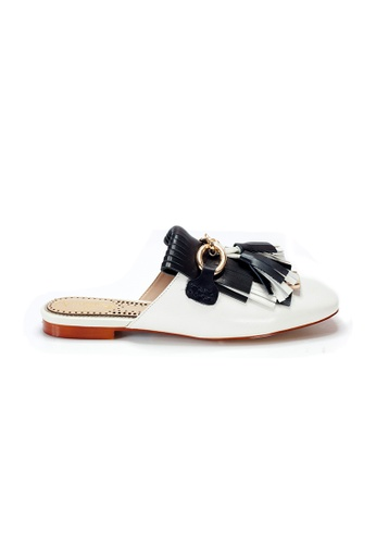 Shu Talk 白色 Amaztep 羊皮蘇蘇平底涼鞋 6A921SH87F99C7GS_1