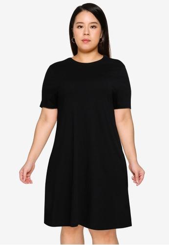 Only CARMAKOMA black Plus Size April Pocket Dress 35944AAFBDCC70GS_1