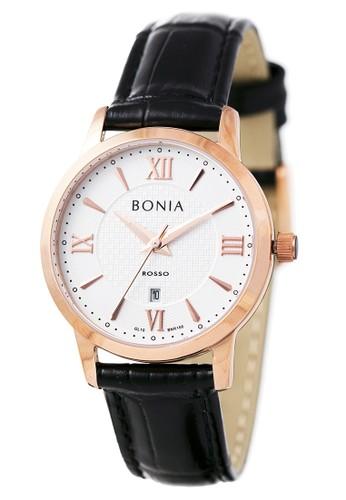 BONIA black Bonia Rosso - BR166-2513 - Jam Tangan Wanita - Black Rosegold 5A915AC72BD205GS_1
