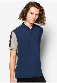 Polo With Sleeve Webbing Strap