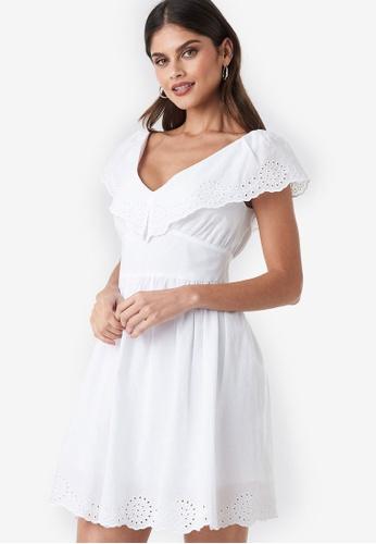9de893f3b52b Buy NA-KD Co-Ord Broderie Anglaise Ruffle Dress | ZALORA HK