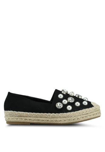 Glamorous 黑色 珍珠懶人鞋 26EA0SHE7CE7FCGS_1