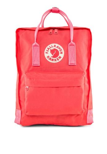 Fjallraven Kanken pink Peach Pink Kanken Classic Backpack FJ859AC16BTFSG_1