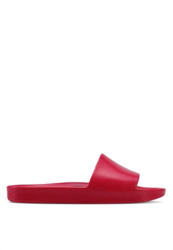 Melissa 粉紅色 休閒沙灘拖鞋 ME121SH0STK3MY_1