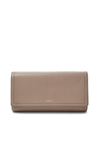 Fossil grey Fossil Logan - Leather - Flap Clutch - Light Taupe - Dompet  Wanita - ace8a55620