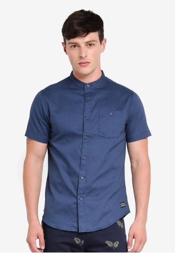 Brave Soul 海軍藍色 Short Sleeved Twill Shirt A5C5CAA0980CDFGS_1