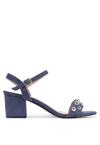 Noveni 藍色 金屬感鉚釘高跟鞋 7BE1ASH077A05FGS_1