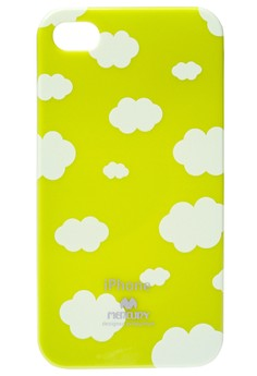 Mercury Printed Jelly Case for iPhone 4/4s [Cloud - Lime Green]