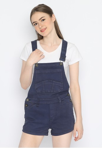 Mobile Power navy Overall Short Navy Blue Mobile Power Ladies - A9825 E1607AA51539B0GS_1
