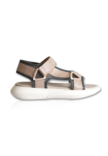 Yoke & Theam black and beige Cosmo Sandal 950D2SHA0857BBGS_1